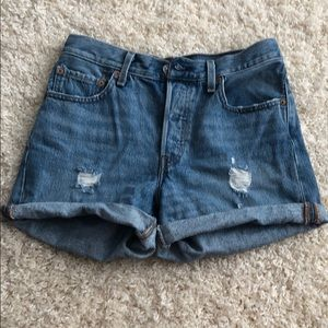 NWOT High rise denim shorts